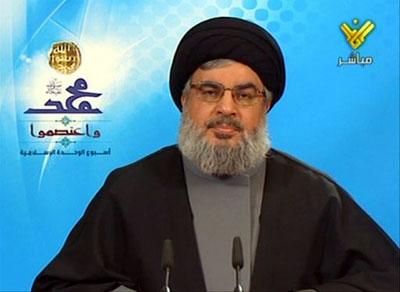 دبير كل حزب الله لبنان تأكيد كرد؛  ايران همهگونه حمايت معنوي، مادي و سياسي از جريانمقاومت كرده است